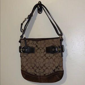 Coach brown satchel